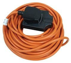 MASTERPLUG BOG10O  Extension Lead 1G 10M 10A Orange